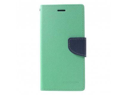 Pouzdro / kryt pro iPhone XR - Mercury, Fancy Diary Mint/Navy
