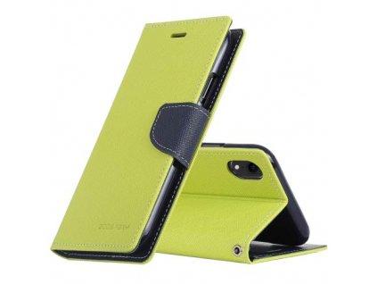 Pouzdro / kryt pro iPhone XR - Mercury, Fancy Diary Lime/Navy
