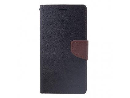 Pouzdro / kryt pro iPhone XS MAX - Mercury, Fancy Diary Black/Brown