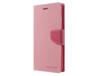 Pouzdro / kryt pro iPhone XS MAX - Mercury, Fancy Diary Pink/HotPink