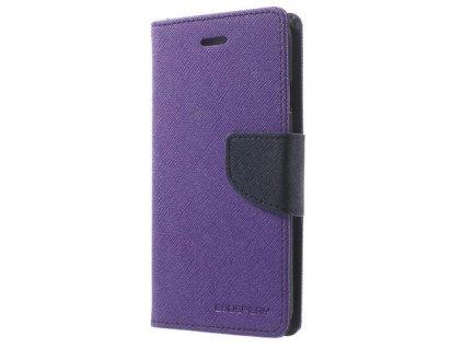 Pouzdro / kryt pro Samsung GALAXY A8 PLUS (2018) A730 - Mercury, Fancy Diary Purple/Navy
