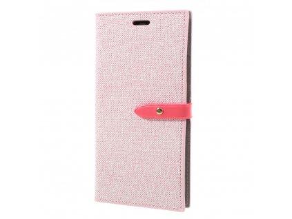Pouzdro / kryt pro iPhone XS MAX - Mercury, Milano Diary Pink/Pink