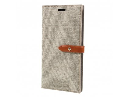 Pouzdro / kryt pro iPhone XS MAX - Mercury, Milano Diary Beige/Brown