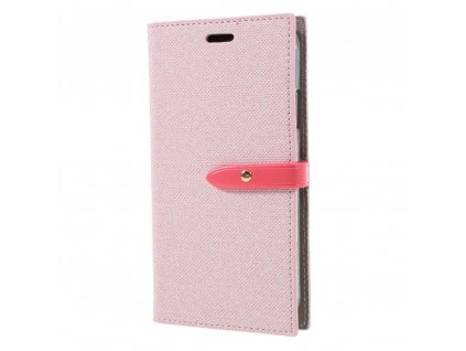 Pouzdro / kryt pro iPhone XR - Mercury, Milano Diary Pink/Pink