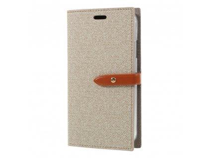 Pouzdro / kryt pro iPhone XR - Mercury, Milano Diary Beige/Brown