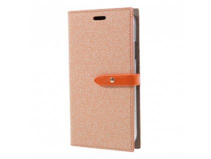 Pouzdro / kryt pro iPhone XR - Mercury, Milano Diary Orange/Orange