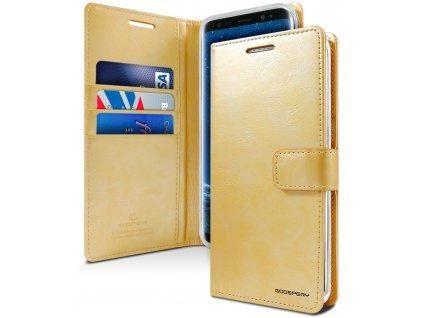 Pouzdro / kryt pro Samsung Galaxy S9 - Mercury, Bluemoon Diary Gold