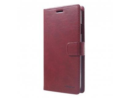 Pouzdro / kryt pro iPhone XS MAX - Mercury, Bluemoon Diary Wine