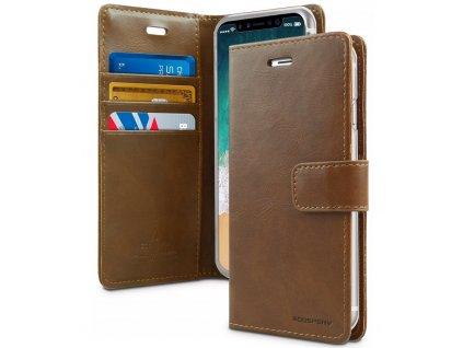 Pouzdro / kryt pro iPhone XS MAX - Mercury, Bluemoon Diary Brown