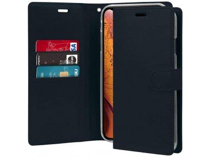 Pouzdro / kryt pro iPhone XS MAX - Mercury, Bluemoon Diary Navy