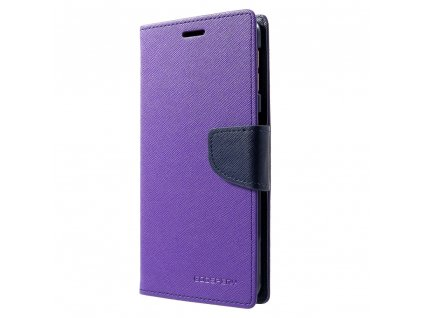 Pouzdro / kryt pro Samsung GALAXY A7 (2018) A750 - Mercury, Fancy Diary Purple/Navy