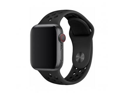 Řemínek pro Apple Watch 38mm / 40mm / 41mm - Devia, Sport2 Black