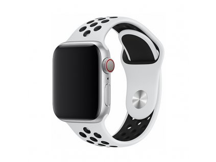 Řemínek pro Apple Watch 38mm / 40mm - Devia, Sport2 White