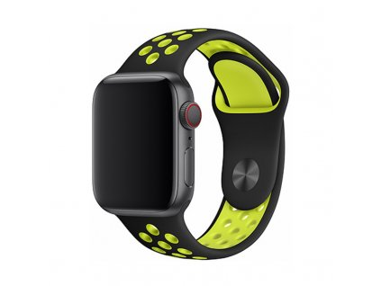 Řemínek pro Apple Watch 38mm / 40mm / 41mm - Devia, Sport2 Yellow