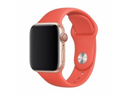 Řemínek pro Apple Watch 42mm / 44mm / 45mm - Devia, Sport Nectarine