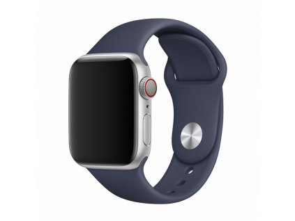 Řemínek pro Apple Watch 42mm / 44mm / 45mm - Devia, Sport Midnight Blue