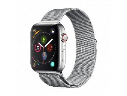 Řemínek pro Apple Watch 38mm / 40mm - Devia, Milanese Silver