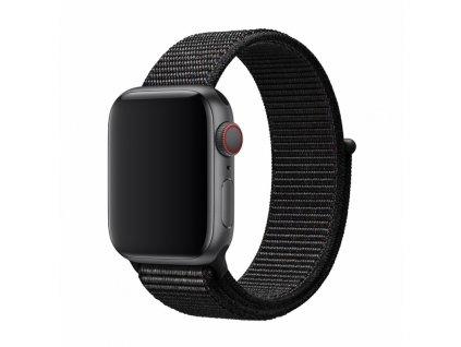 Řemínek pro Apple Watch 38mm / 40mm - Devia, Sport3 Black