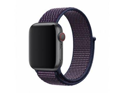Řemínek pro Apple Watch 42mm / 44mm - Devia, Sport3 Indigo