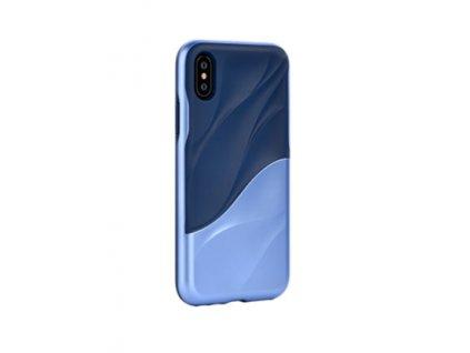 Ochranný kryt pro iPhone XS - Devia, Wave Blue