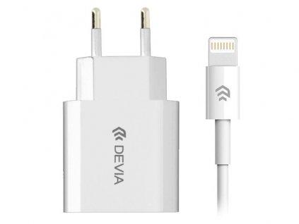 Nabíjecí AC adaptér pro iPhone a iPad - Devia, Smart Charger 2.1A + kabel Lightning