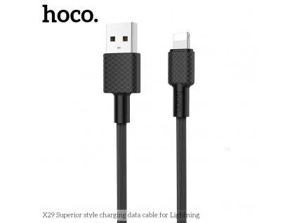 Kabel Lightning pro iPhone a iPad - Hoco, X29 Superior Black