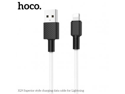 Kabel USB-A/Lightning pro iPhone a iPad - Hoco, X29 Superior White