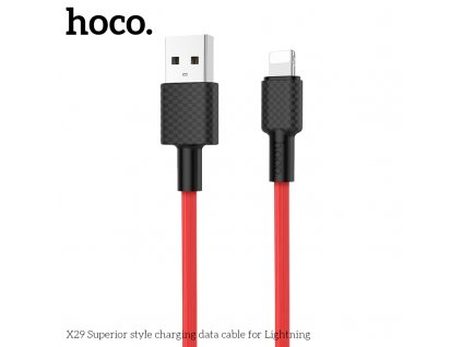 Kabel USB-A/Lightning pro iPhone a iPad - Hoco, X29 Superior Red