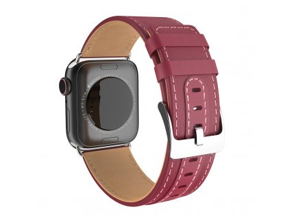 Kožený řemínek pro Apple Watch 42mm / 44mm - HOCO, WB04 Duke Wine