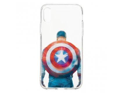 Ochranný kryt pro iPhone XS - MARVEL, Captain America 002
