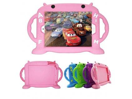 Dětské pouzdro pro iPad 2 / 3 / 4 - Cartoon Monkey, Pink