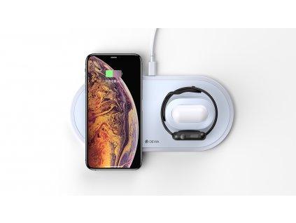 Bezdrátová nabíječka pro iPhone, Apple Watch a AirPods - Devia, Wireless 3in1 Charger (V3)