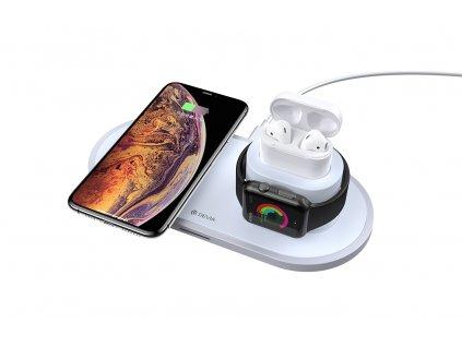 Bezdrátová rychlá nabíječka pro iPhone, Apple Watch a AirPods - Devia, Wireless 3in1 Charger (V3)