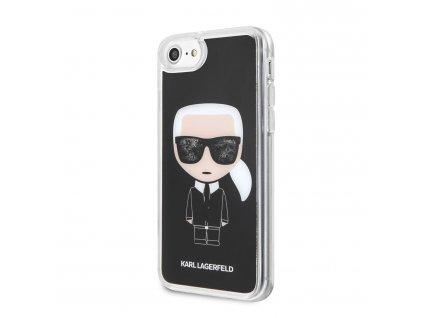 Ochranný kryt pro iPhone 8 / 7 / 6s / 6 - Karl Lagerfeld, Iconic Glitter Black