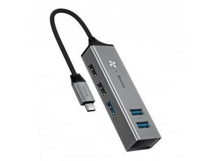 Redukce / adaptér - Baseus, USB-C Hub Gray