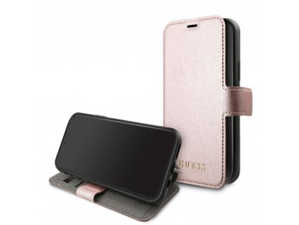 Pouzdro / kryt pro iPhone 11 Pro - Guess, Iridescent Book Rose