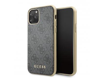 Ochranný kryt na iPhone 11 Pro - Guess, 4G Cover Gray