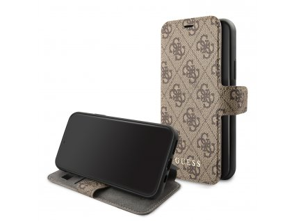 Pouzdro / kryt pro iPhone 11 - Guess, 4G Book Brown