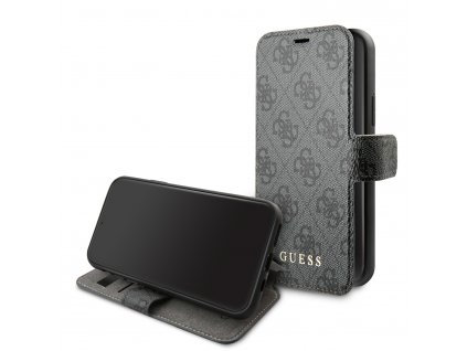 Pouzdro / kryt pro iPhone 11 Pro - Guess, 4G Book Grey