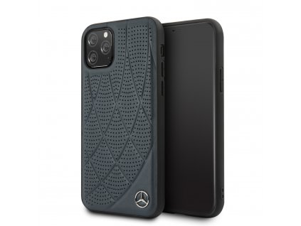Ochranný kryt na iPhone 11 Pro - Mercedes, Leather Cover Blue