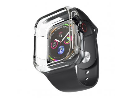 Řemínek s krytem pro Apple Watch 42mm / 44mm - Hoco, WB09 Ice Crystal Black
