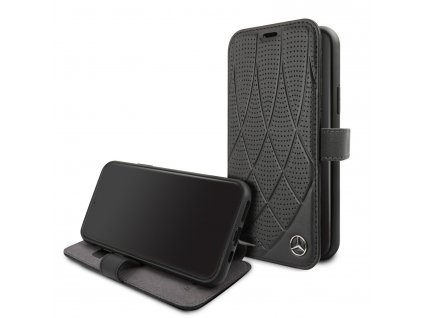 Ochranné pouzdro na iPhone 11 Pro MAX - Mercedes, Quilted Perf Book Black