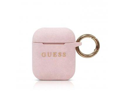 Pouzdro pro sluchátka AirPods - Guess, Silicone Pink