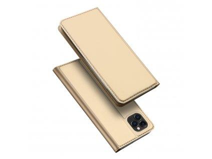 Knížkové pouzdro na iPhone 11 Pro - DuxDucis, SkinPro Gold