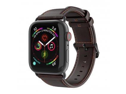 Kožený pásek / řemínek pro Apple Watch 42mm / 44mm - DuxDucis, Business Coffee