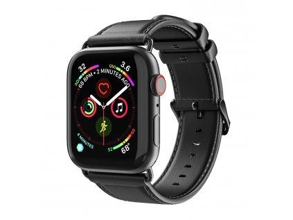 Kožený pásek / řemínek pro Apple Watch 42mm / 44mm - DuxDucis, Business Black