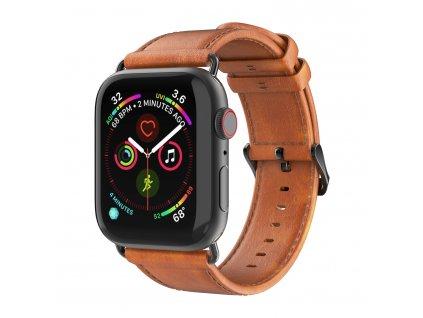 Kožený pásek / řemínek pro Apple Watch 42mm / 44mm - DuxDucis, Business Brown