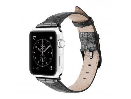 Kožený pásek / řemínek pro Apple Watch 42mm / 44mm - DuxDucis, Luxury Black