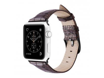 Kožený pásek / řemínek pro Apple Watch 42mm / 44mm - DuxDucis, Luxury Brown