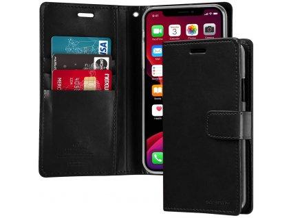 Pouzdro na iPhone 11 Pro - Mercury, Bluemoon Diary BLACK
